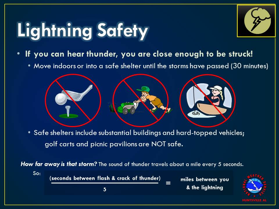 Lightening Safety Tips.... Very important to know!