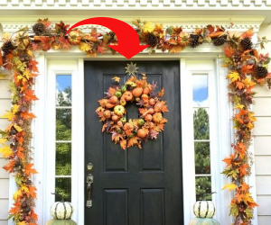 wreath hanger for my Fall front porch