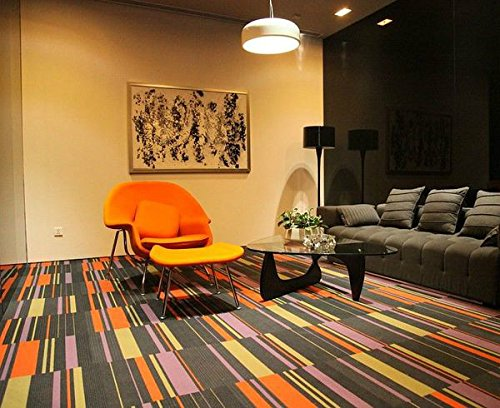 Very cool orange chair and ottoman