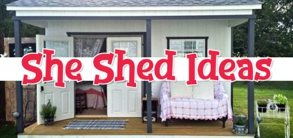 She Shed Ideas – Gorgeous Shed Office, Craft Room & Woman Cave Ideas For Your Backyard