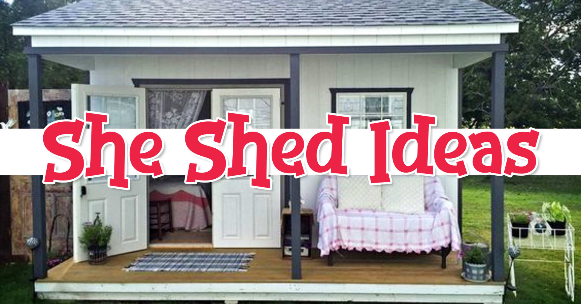 She Shed Ideas Inside & Out Pictures- Backyard Offices & Craftrooms