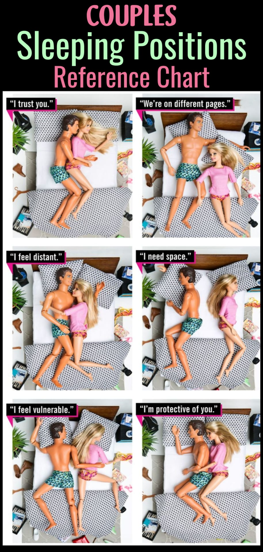 What couples sleeping positions mean