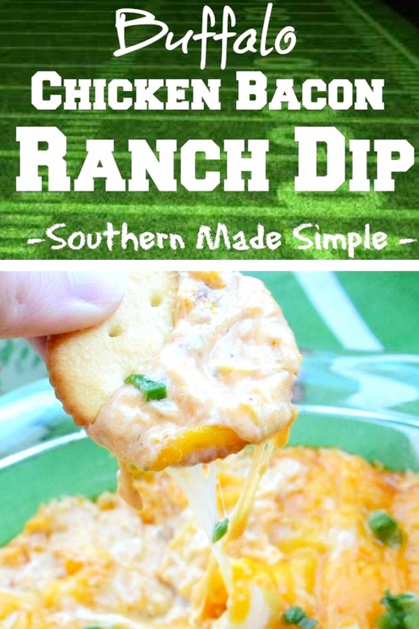 Easy Buffalo Chicken Bacon Ranch Dip. My favorite cold ranch dip recipes for veggies and chip that are all super easy to make and insanely good crowd pleasing recipes. They are truly the perfect party food!