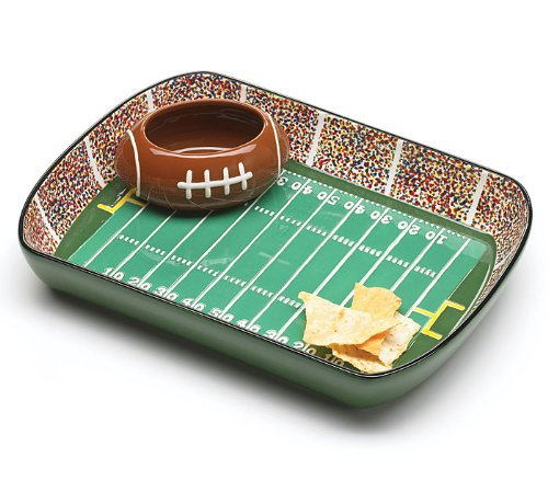 Football party dip bowl - lots of easy ranch dip recipes on this page too!