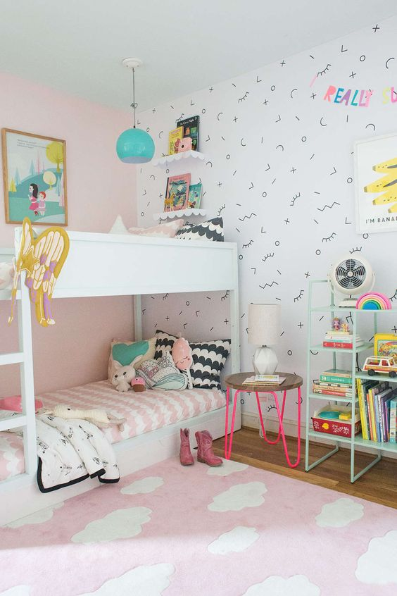 One of MANY really cute ideas for a little girls bedroom #littlegirlsroom #bedroom #bedroomideas #bedroomdecor #diyhomedecor #homedecorideas #diyroomdecor #littlegirl #toddlergirlbedroomideas #toddler #diybedroomideas #pinkbedroomideas