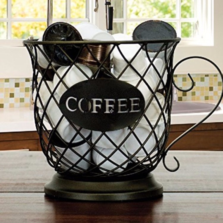 LOVE this! Holds my k-cup coffee pods and my creamers on my home coffee station!