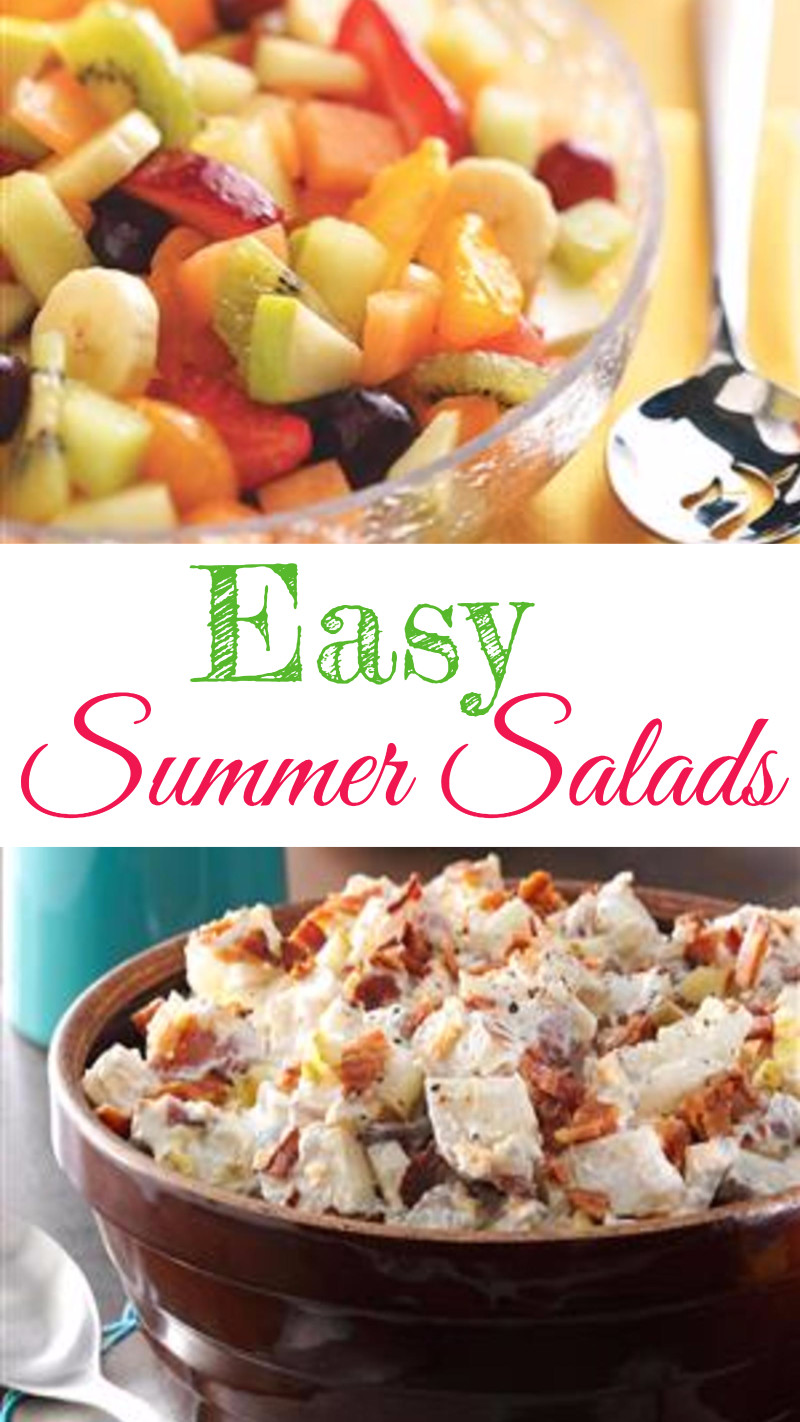 Easy summer salads for a crowd - summer salad recipes for cookout, BBQ, potluck, or any get together