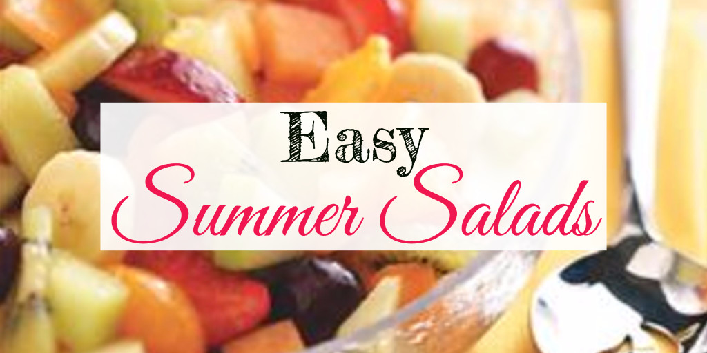 Easy make ahead summer salad recipes for a crowd - these summer salad ideas are quick and delicious and will please any crowd of any size.