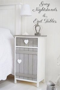 See 18+ GORGEOUS Gray accent tables, end tables and nightstands that we LOVE!