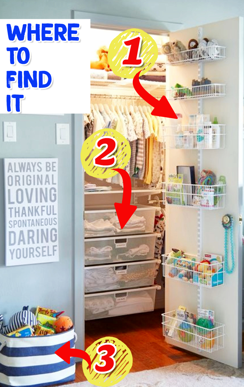 Nursery Closet Organization Ideas - Where To Find the organization products to organize your baby's closet like the picture #gettingorganized