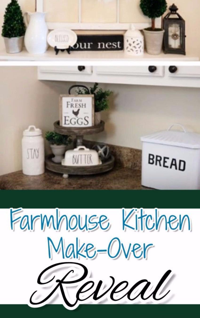 Farmhouse Kitchen Remodel Ideas • DIY Farmhouse Kitchen Decor