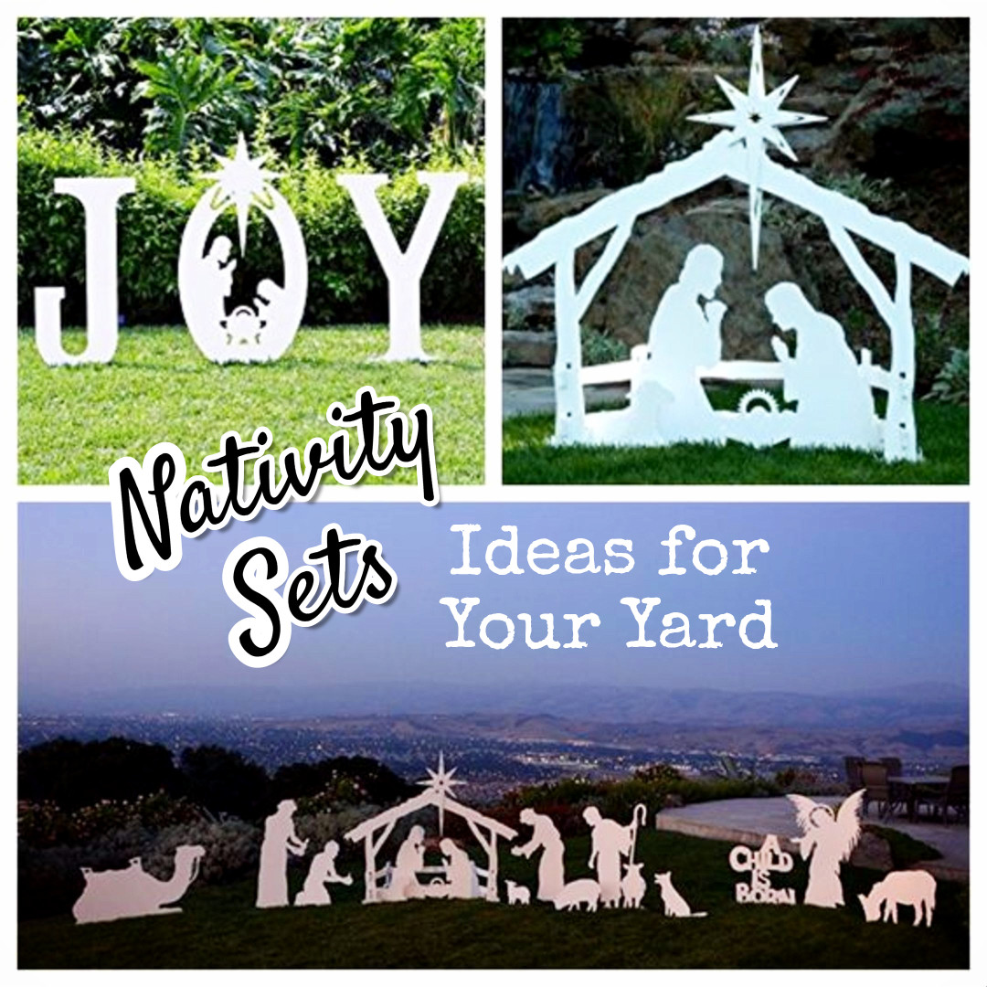 outdoor nativity sets for your yard - Teak Isle Christmas Decorations