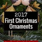 Adorable First Christmas ornaments for ALL occasions! Baby's first, new home, engaed, first Christmas together, and many more.