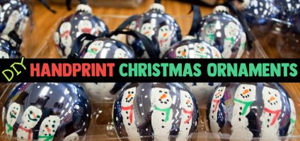 DIY Handprint Christmas Ornaments – Easy Christmas Keepsake Crafts For Kids To Make