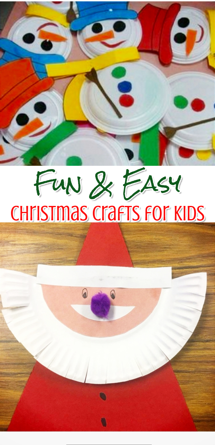 Fun and Easy Christmas crafts for toddlers and kids to make - simple Holiday craft ideas for preschool, classroom or for home.