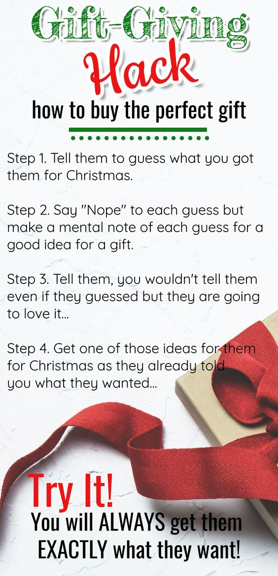 LIFE HACK!  Need Gift ideas? How to know EXACTLY what everyone or ANYONE wants. The ultimate gift giving HACK...and it works every single time!