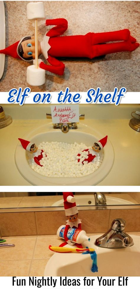 Elf on the Shelf / Fun Nightly Ideas for Your Elf