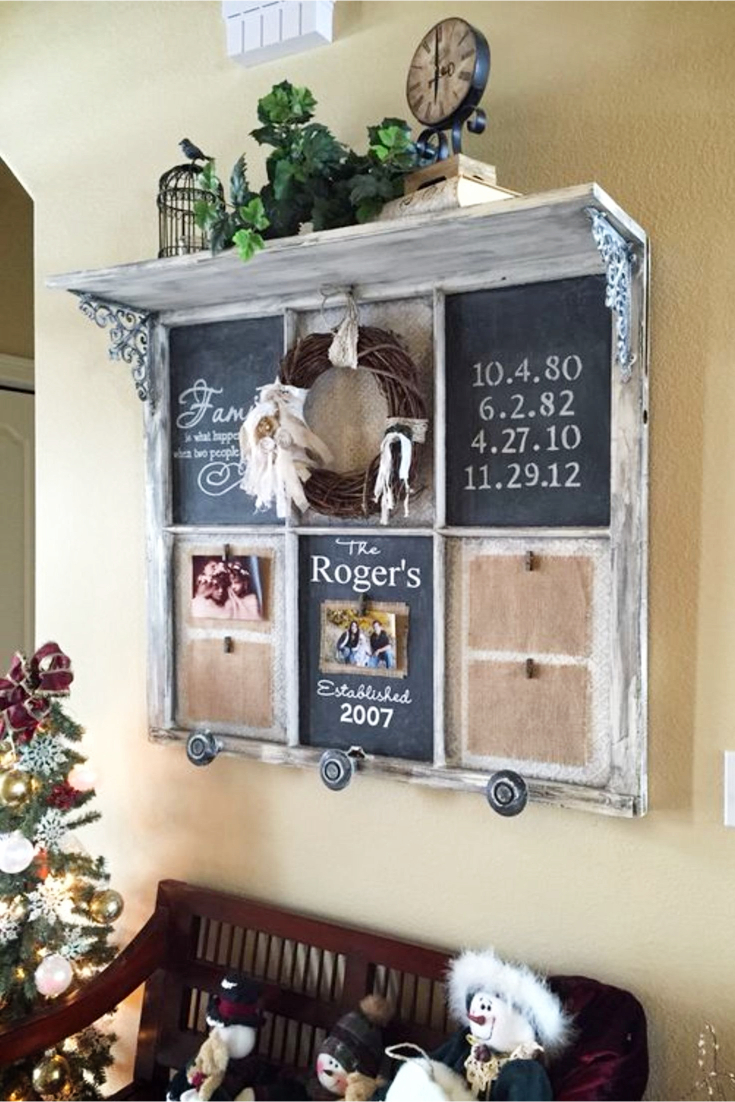 Old Window Chalkboard DIY Instructions and Video Tutorial - Old Windows Crafts Ideas