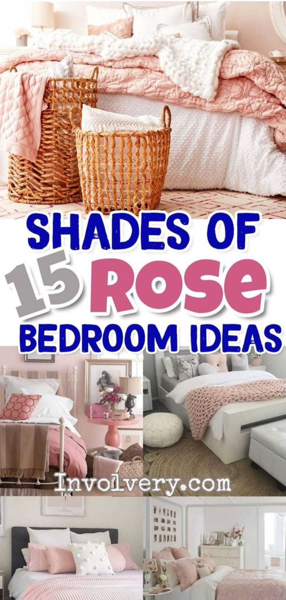 Blush Pink Bedroom Ideas - Dusty Rose Bedroom Decor and Bedding I Love