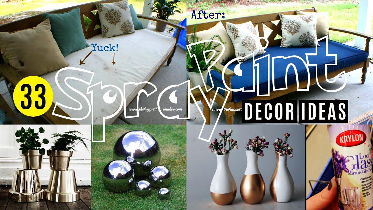 25 budget decorating ideas transform your decor with for Spray paint ideas