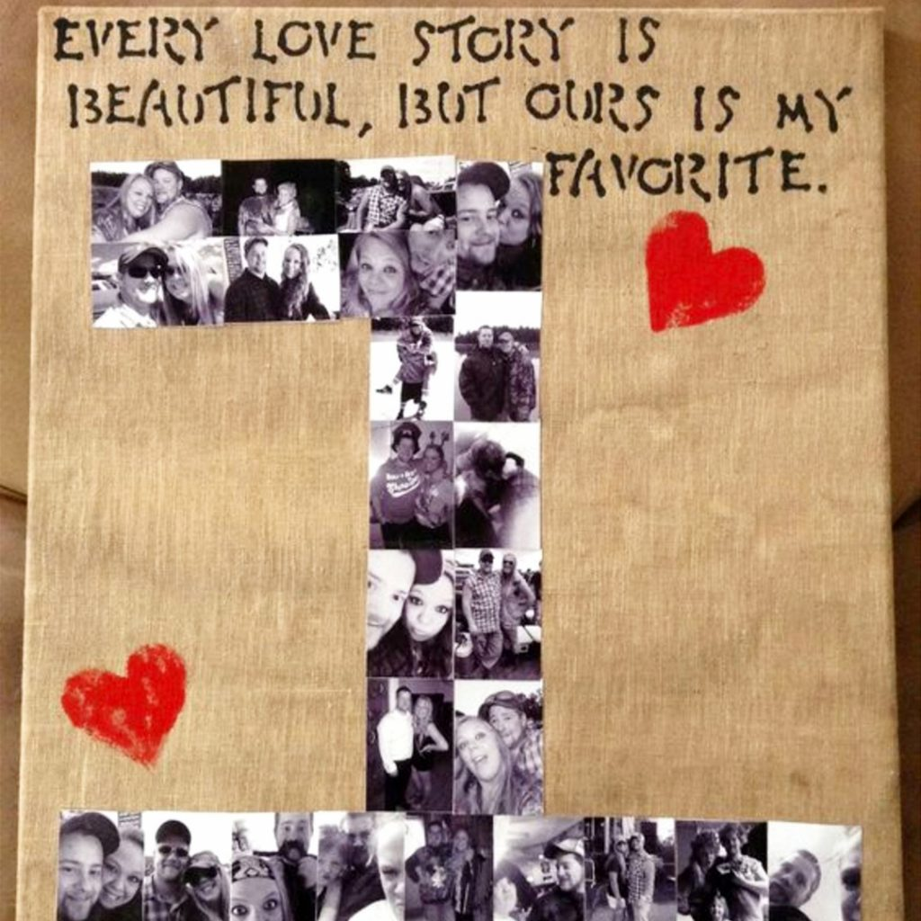 Photo Collage on Wood DIY ideas and video tutorial
