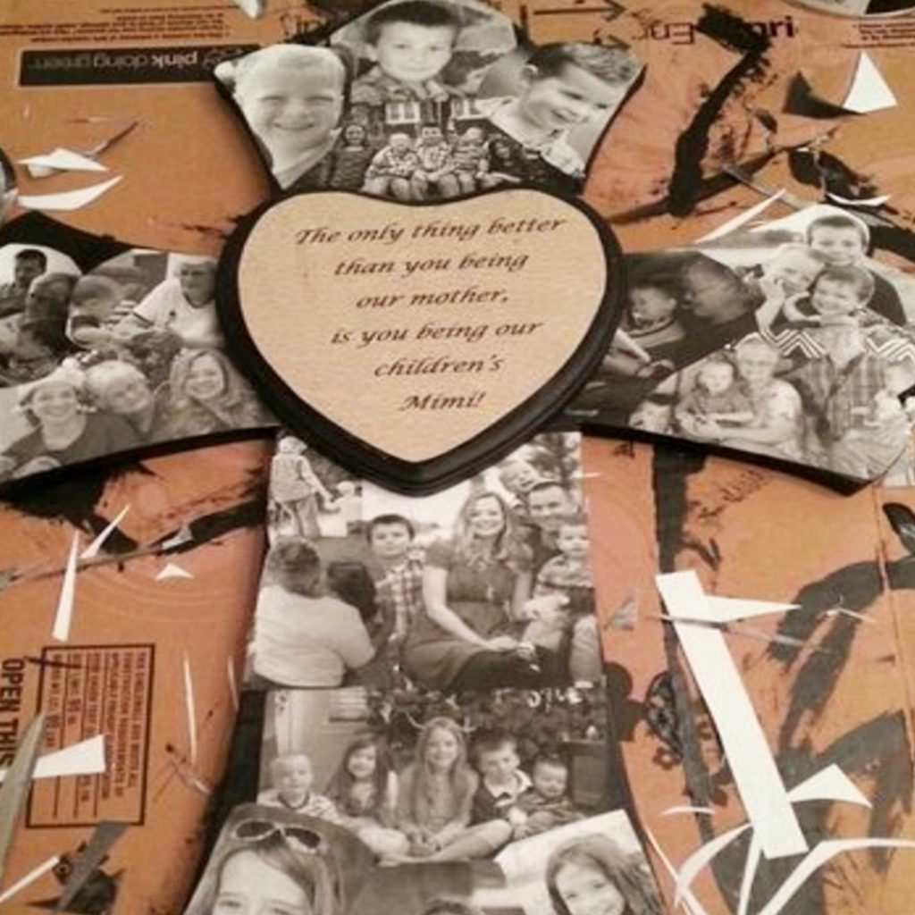 Wooden Letter Photo Collage Ideas - these DIY projects are SO easy and sure make a great homemade gift idea