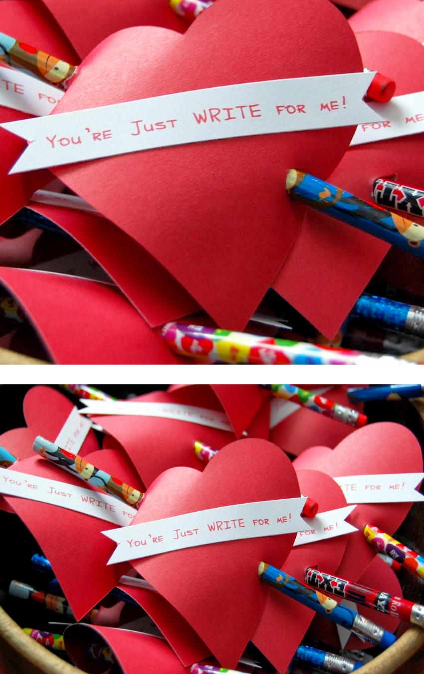DIY School Valentines for the classroom and teachers - Valentines Day crafts and cards for kids
