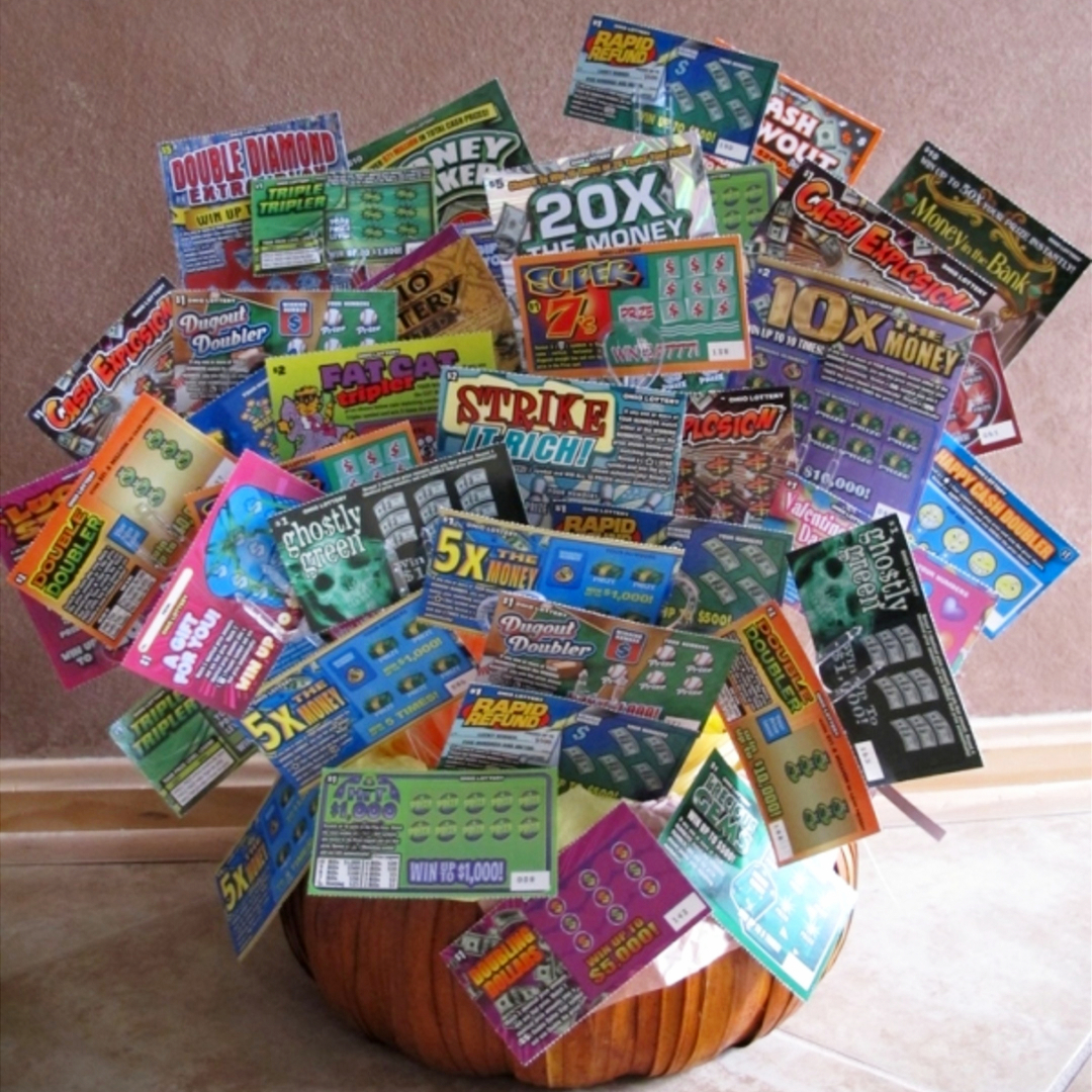Raffle Basket Ideas - Fundraising ideas for raffles and silent auctions - birthday gift basket ideas with lottery tickets