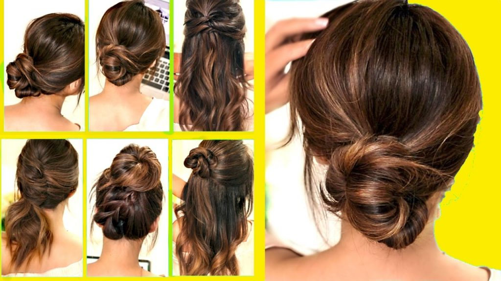 Easy hairstyles for medium to long hair - Quick DIY hairstyle ideas for school, work, beginners, moms - step by step easy hairstyles video tutorials #hairstyleideas #mediumlengthhair #longhairideas #easyhairstyles #lifehacks #momhacks