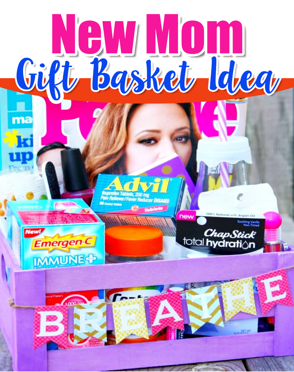 Baby shower gifts for mom that are NOT baby gifts!  Cute new mom survival gift basket - cheap and easy DIY baby shower gift basket it #babyshowerideas #diygifts #babystuff