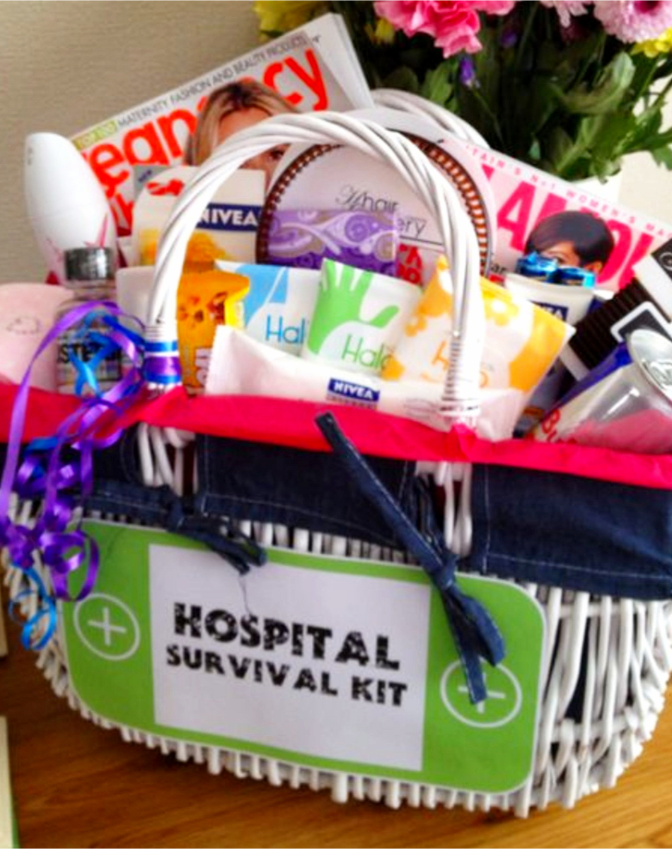 Baby shower gifts for mom that are NOT baby gifts!  Cute new hosptial survival gift basket - cheap and easy DIY baby shower gift basket it #babyshowerideas #diygifts #babystuff
