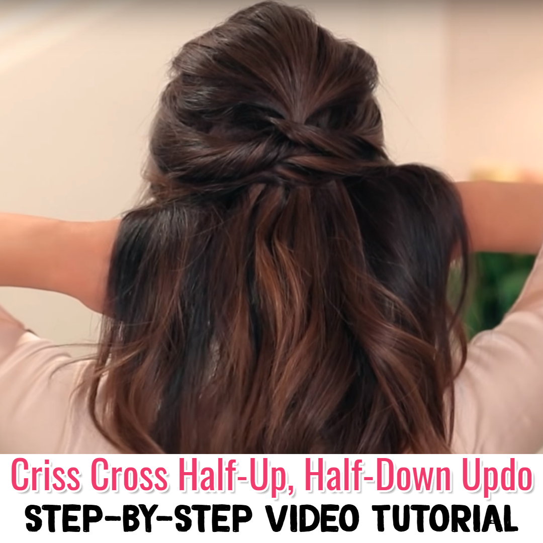 Lazy Hairstyles! Easy Half Up Half Down Hairstyles - Easy Hairstyle Step By Step Video Tutorial - 10 easy hairstyles for school, work, moms, beginners, when running late