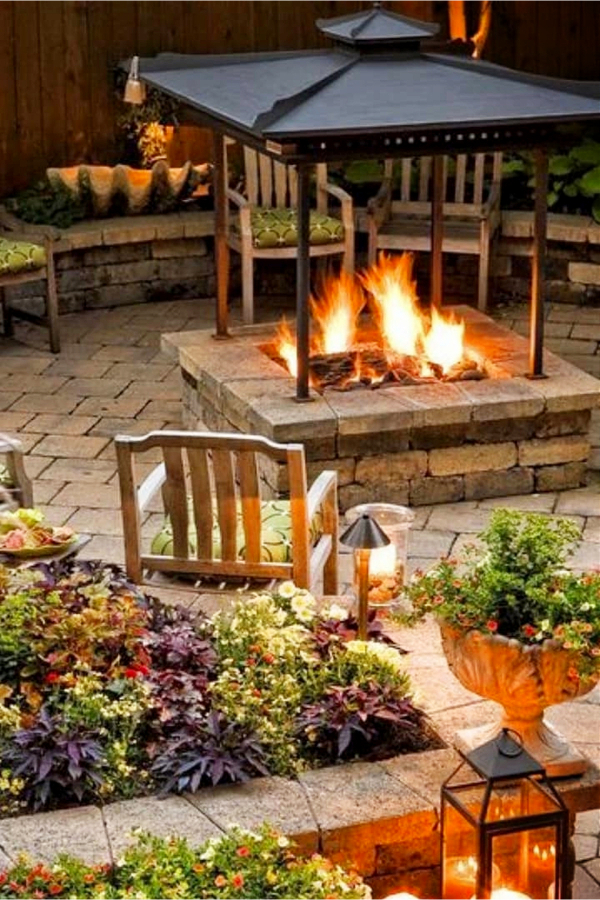 Backyard fire pit ideas - DIY fire pits #diyhomedecor #gardenideas #backyardideas