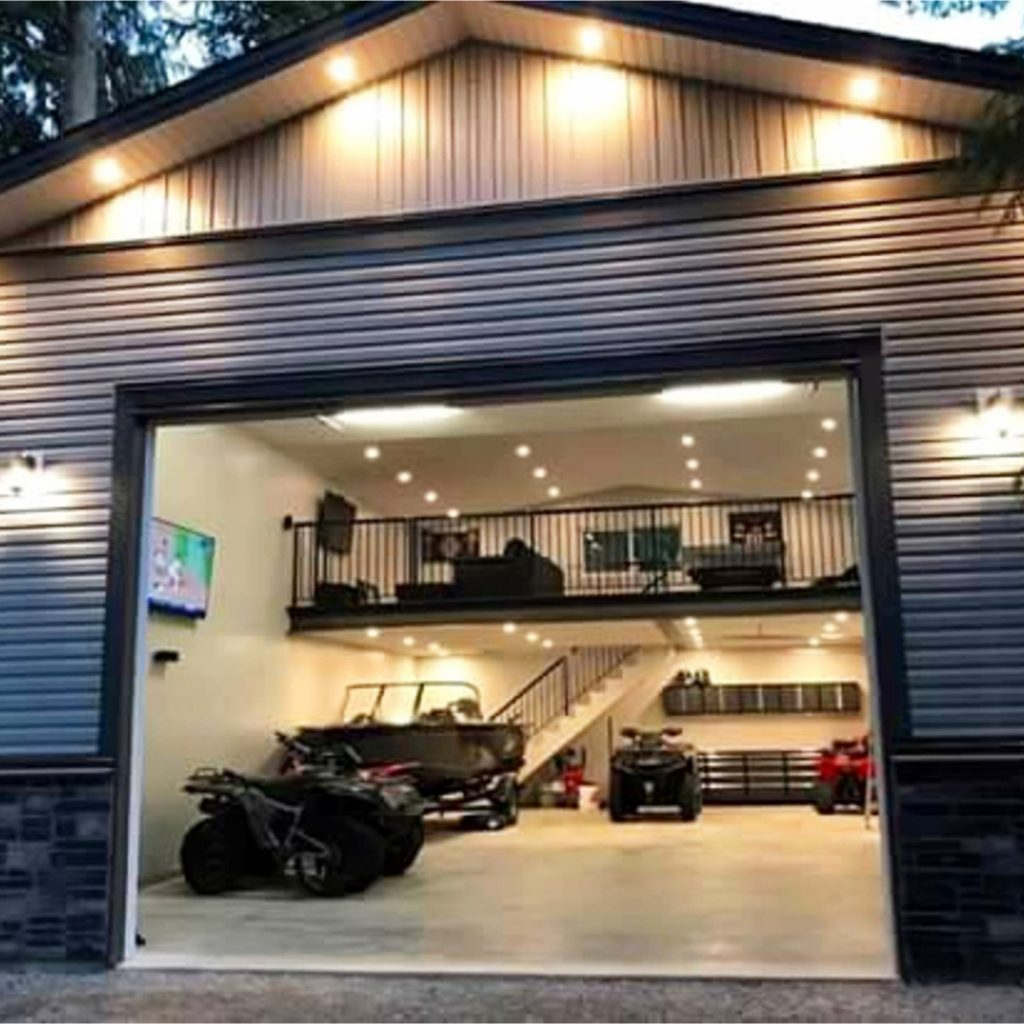 Awesome Man Cave in this garage! #goals #dreamhome