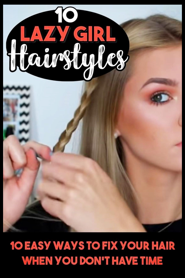LAZY hairstyles! easy everyday hairstyles for long hair, medium length hair, and short hair too. These quick and easy lazy hairstyles and hair tutorials are perfect if you're running late, or feeling totally lazy - these 10 easy-peasy hairstyle ideas that can be done in minutes - or less!