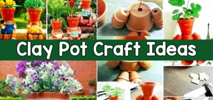 Clay Pot Ideas – Cute Things To Make Out Of Clay Pots (Pictures of Painted Clay Pots too!)