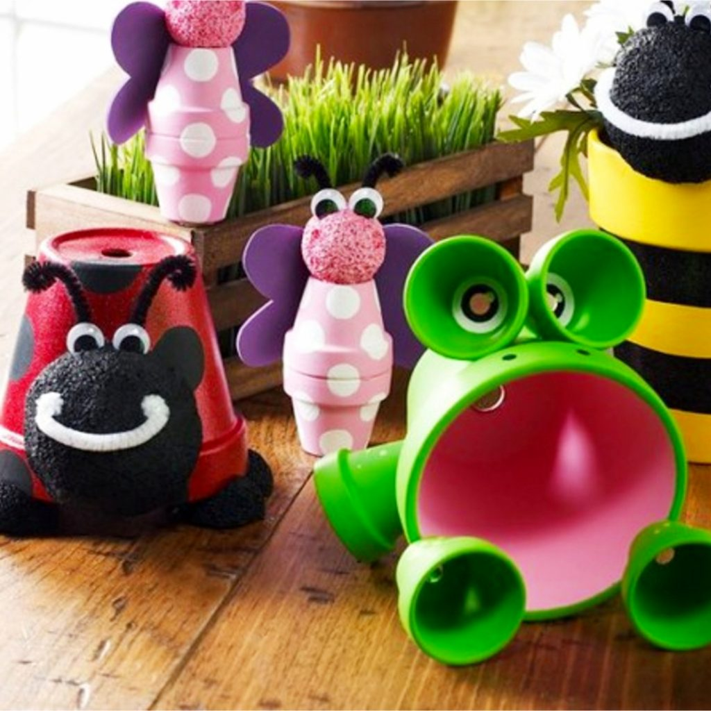 DIY Animals made out of clay pots - Ideas for clay pots