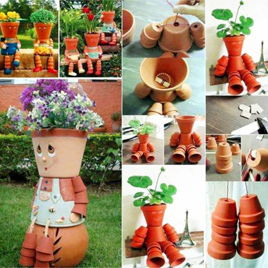 Clay pots decorations ideas - things to do with terracotta pots