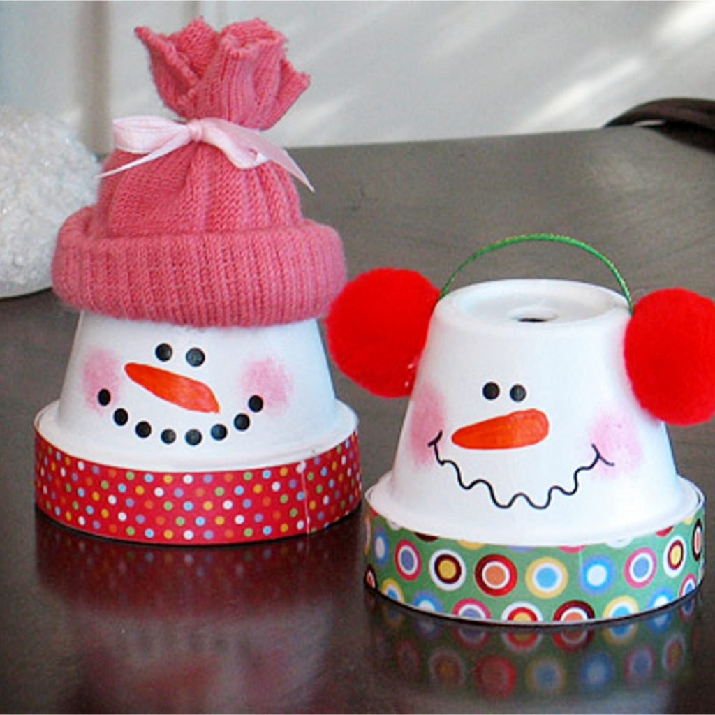 Ideas for clay pots - cute Christmas crafts made out of clay flower pots