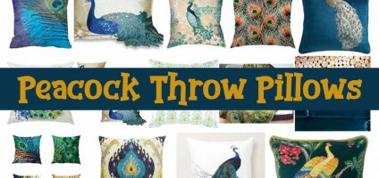 Peacock Throw Pillows – Fun Decorative Peacock Pillows To Add a POP of Color To Your Room