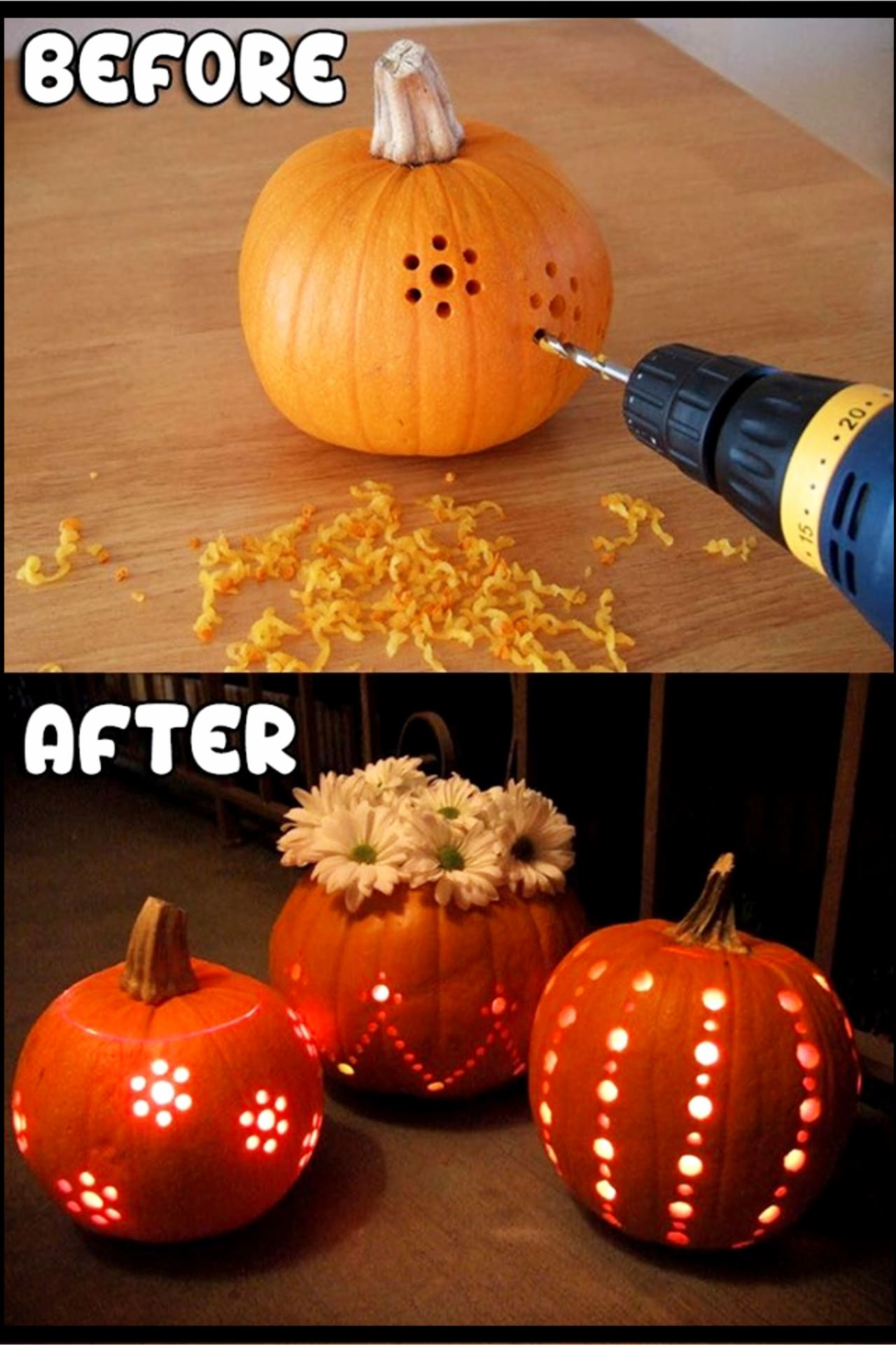 Pumpkin Decorating Ideas - creative ways to decorate pumpkins for Halloween, Thanksgiving or for Fall front porch decorating ideas