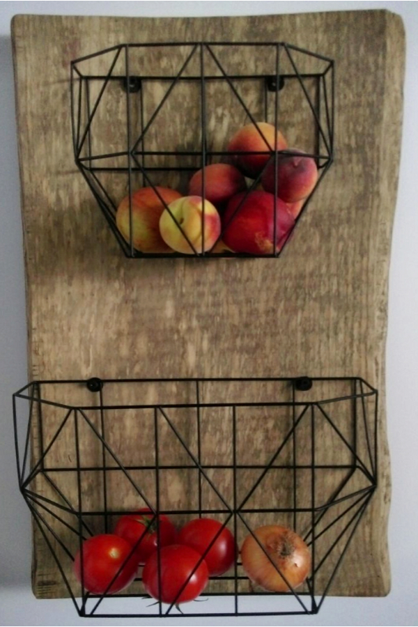 wall hanging fruit basket PICTURES and DIY ideas for your kitchen wall.