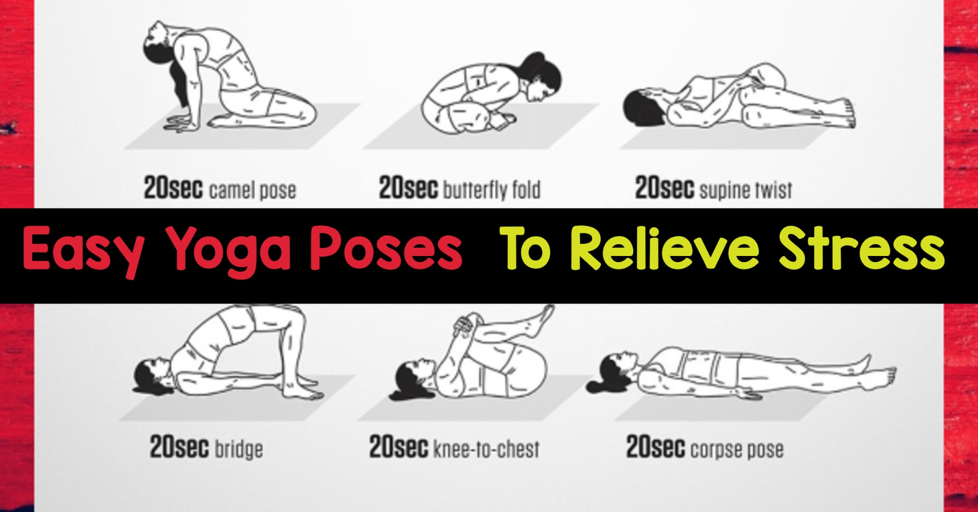 Easy Yoga Poses and Yoga Routines to reduce stress and sleep better - could be fun and easy yoga poses for two!