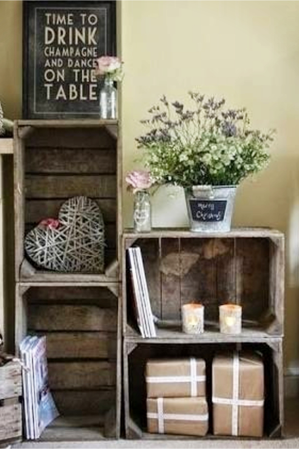 Simple Rustic Decorating Ideas with Old Wood Crates and Boxes - Easy DIY Rustic Home Decor Ideas on a Budget