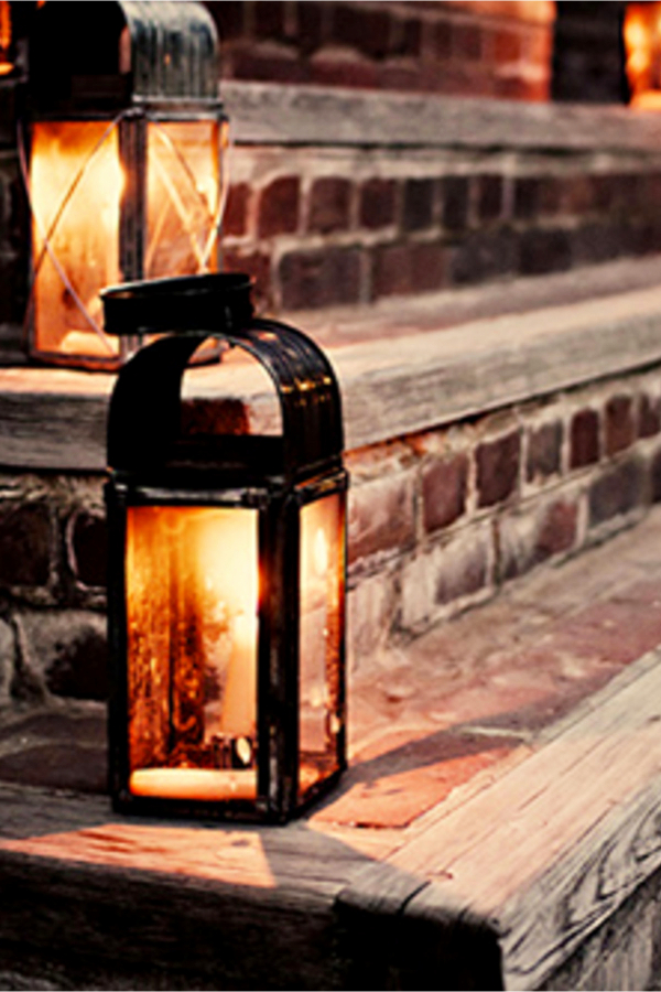 Rustic Front Porch Decorating Ideas with Lanterns on Steps - Easy DIY Rustic Home Decor Ideas on a Budget