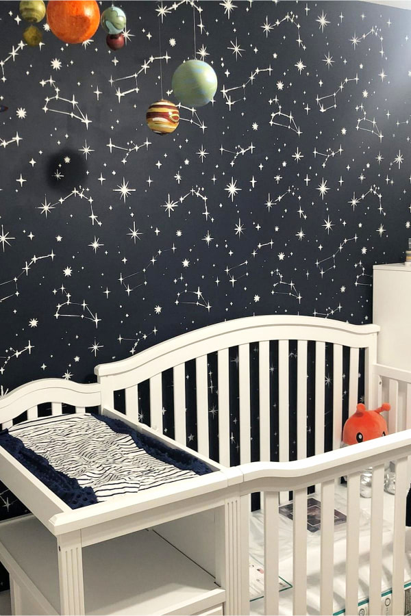 space themed nursery - boy or gender neutral baby nursery themes and decorating ideas