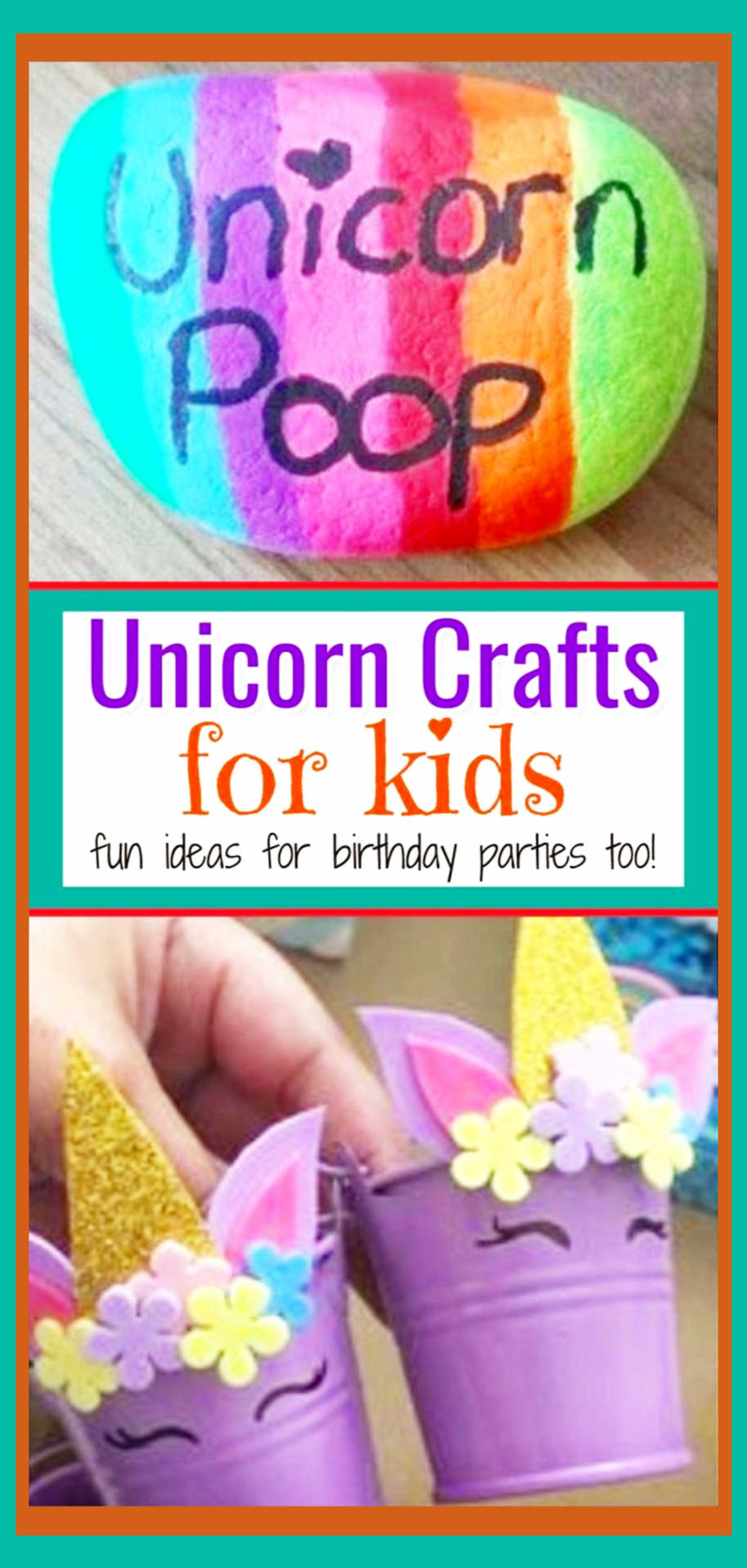 Unicorn birthday party ideas - DIY unicorn birthday party decorations, good bags and more unicorn crafts for kids