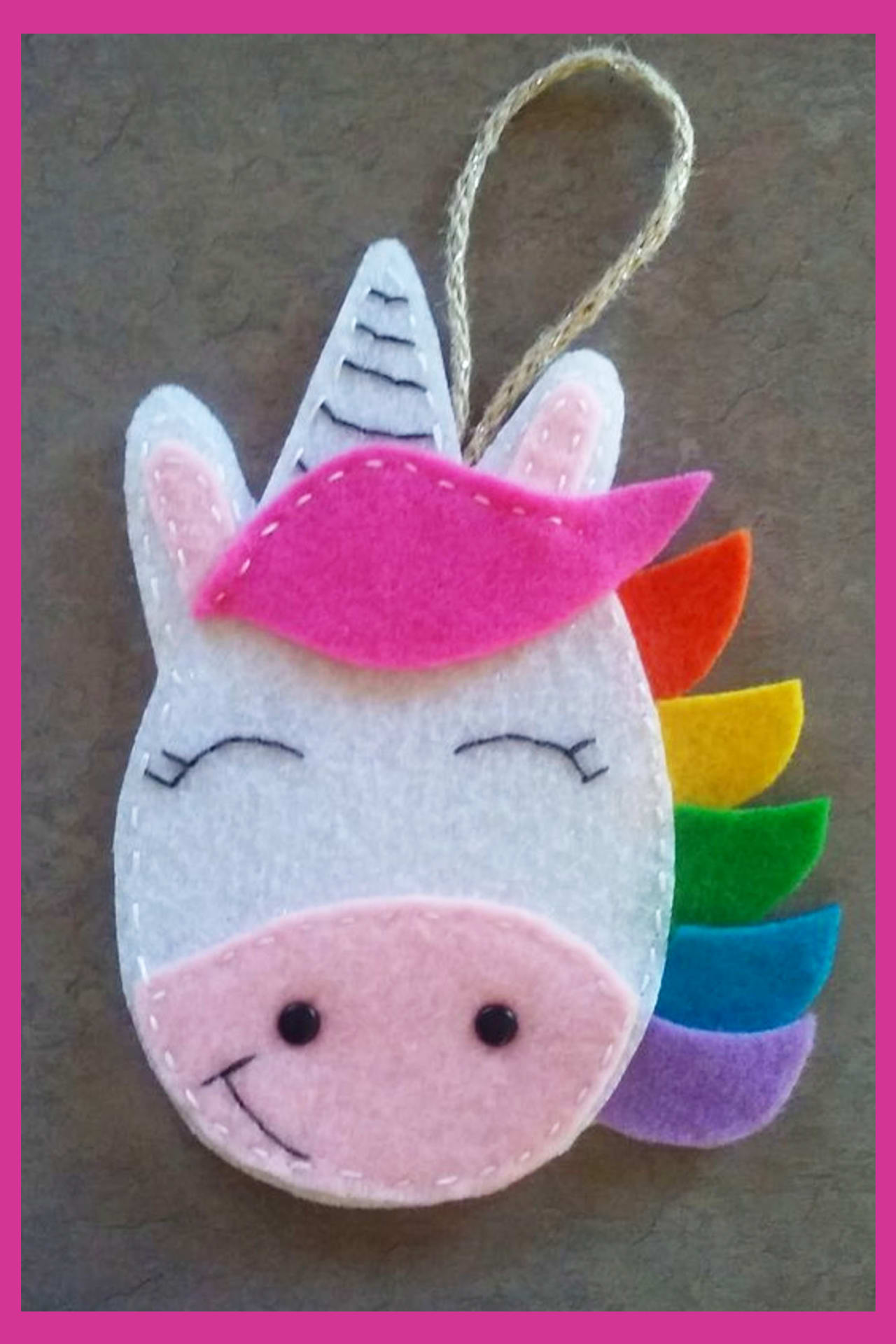 Unicorn crafts - fun and easy DIY unicorn craft projects for kids and for unicorn birthday parties - felt crafts for kids