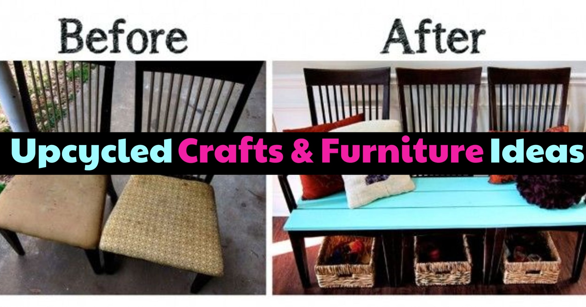 Easy DIY upcycled crafts and furniture ideas