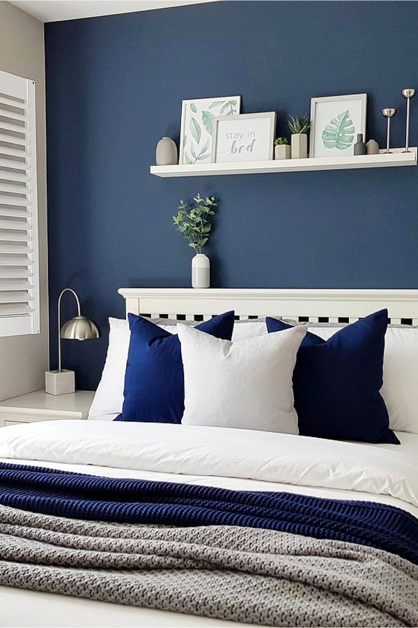 Paint ONE wall in room a different color for a beautiful accent wall - how to decorate your room without buying anything